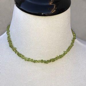 "Jewelry - Peridot Olivine choker from Lanzarote 15.5"" EUC"